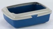 GOA 1C - płaska kuweta dla kota firmy Marchioro - niebieska