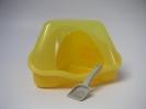 Kuweta NORA 1C dla chomika z łopatką - żółta