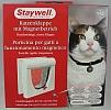 932 - drzwiczki dla kota z zamknięciem na magnes - białe