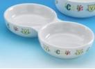 Podwójna miska ceramiczna - 21 cm