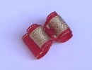 Kokardka 011 - czerwono złota