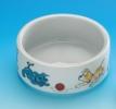 Miska ceramiczna z pieskami - duża