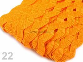 Taśma zygzak - żółta - nr 22